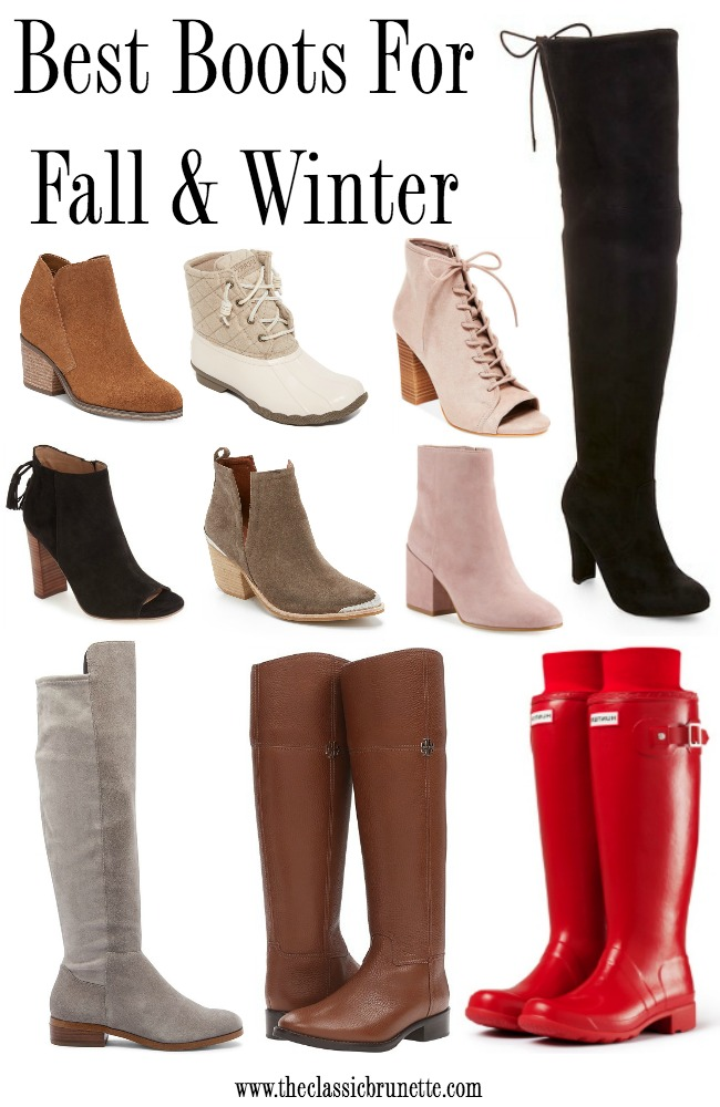fefbc1eb24e9 The Classic Brunette  Best Boots For Fall And Winter