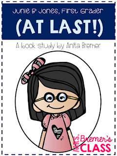 Junie B. Jones First Grader at Last! book study companion activities to go with the chapter book by Barbara Park. A great back to school themed pack! For 1st and 2nd grades.