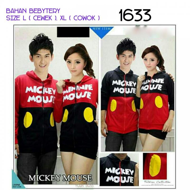 Jual Online Jacket Couple Mickey Murah Jakarta Bahan Babytery Terbaru