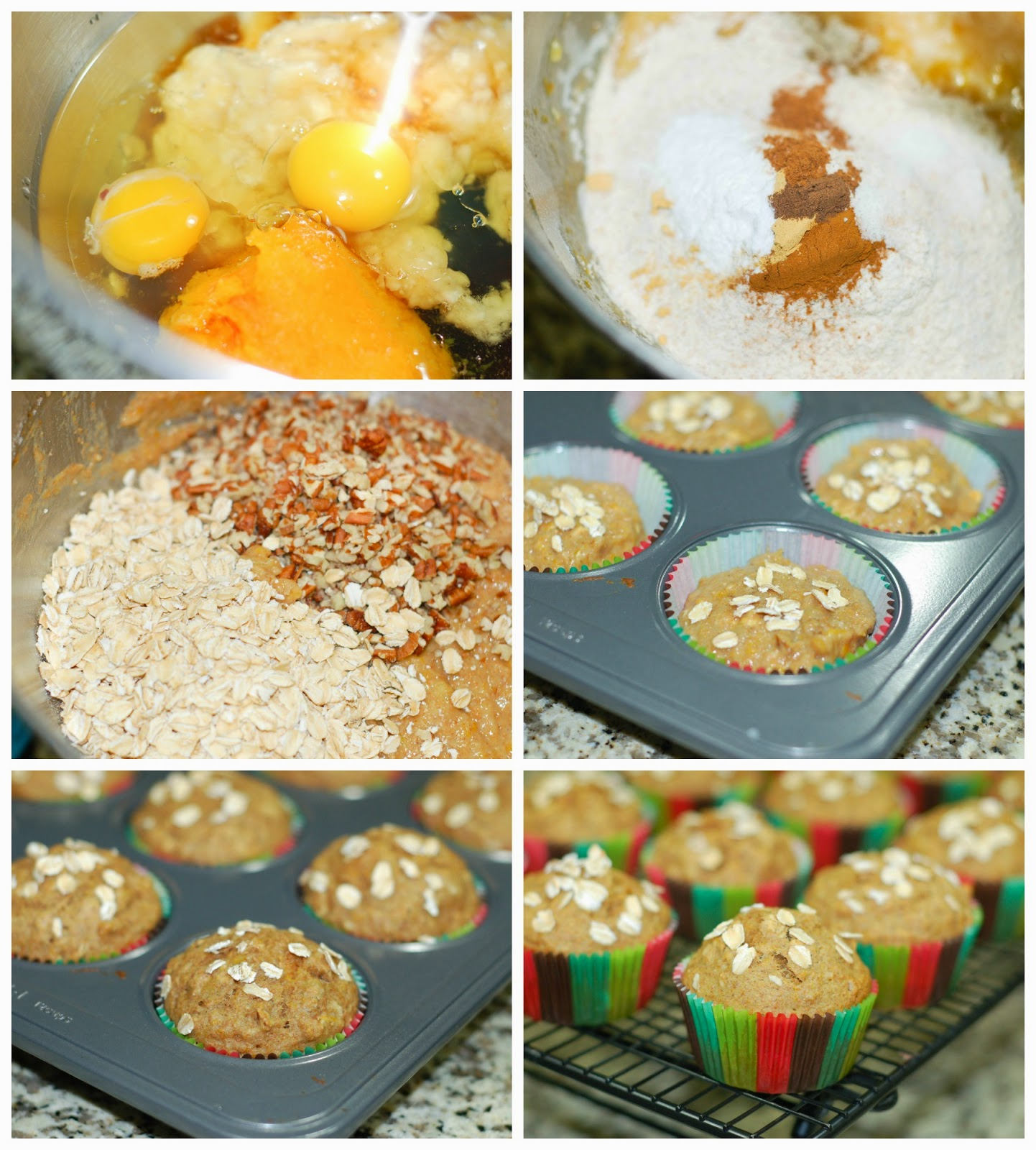 Making Butternut Squash Muffins by The Sweet Chick