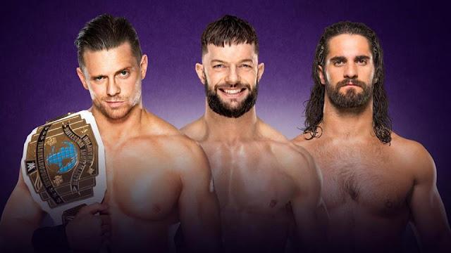 Finn Balor vs Seth Rollins vs The Miz for Intercontinental Championship at Wrestlemania 34