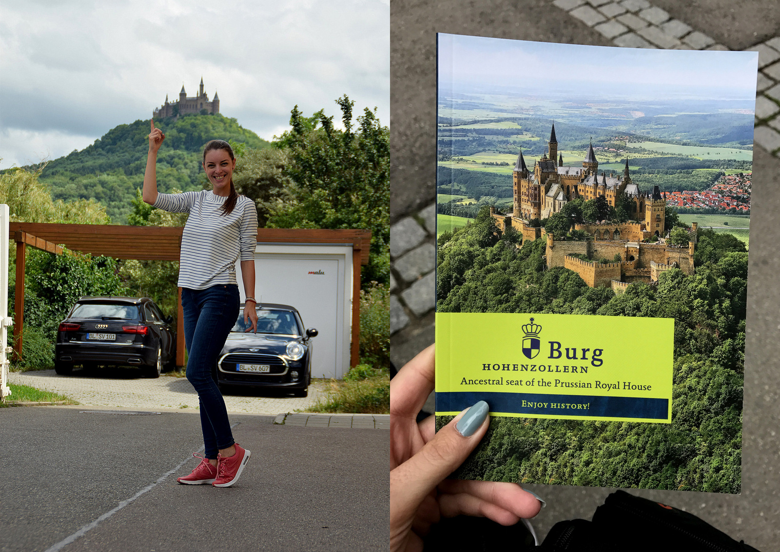 čaj o piatej so skutočných členmi pruskej kráľovskej rodiny Hohenzollern na vrchole pohoria  //  Burg Hohenzollern, Hechingen, Deutschland