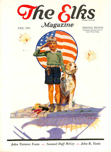 July 1933 cover for The Elks magazine by Colcord Heurlin