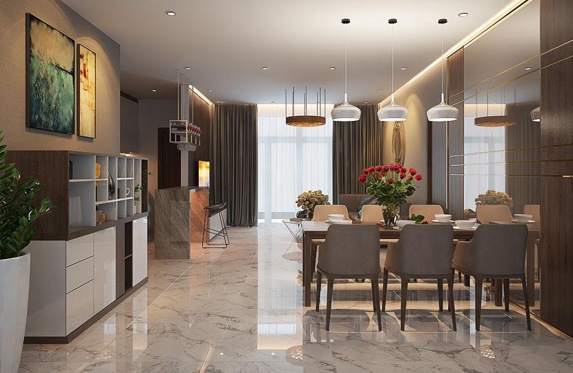 cho thuê căn hộ Vinhomes tòa Park 5 140m2 tầng trung nội thất mới