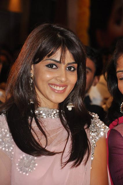 Genelia D'Souza in beautiful Indian dress at Audio Launch ...