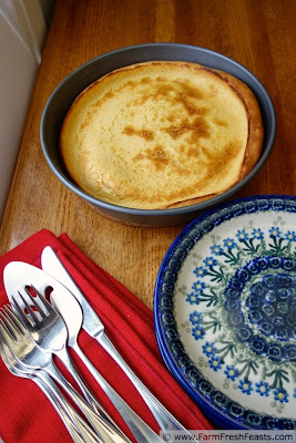 Eggnog Finnish Oven Pancake or Eggnog Pannukakku | Farm Fresh Feasts