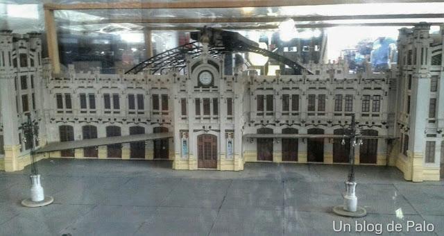 Maqueta de la estación de Delicias en el museo del Ferrocarril (Foto: Conchi G.M.)