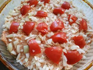 мясная запеканка с помидором