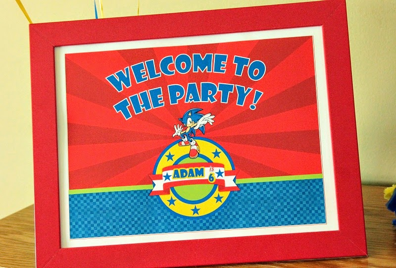 Sonic the hedgehog party supplies, sonic the hedgehog party theme