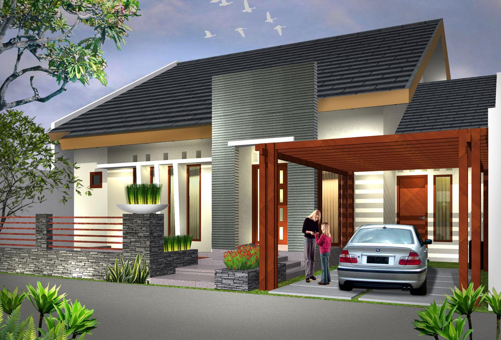 15 Desain Dan Denah Rumah Minimalis Type 90 Satu Lantai Modern Dan