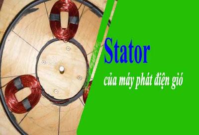Stator của máy phát điện gió