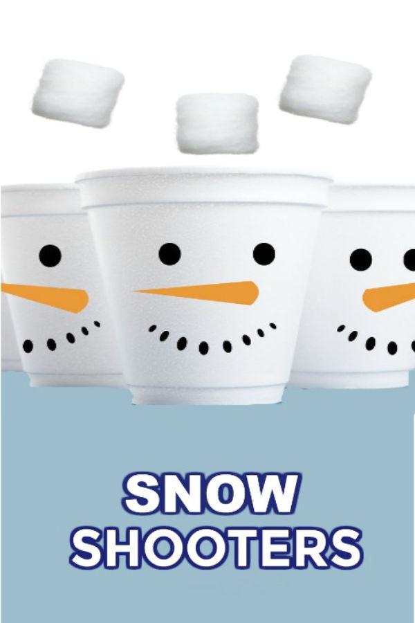 FUN KID PROJECT: Make snow shooters! DIY toy #snowshooters #snowcrafts #snowcraftsforkids #snowrecipes #snowrecipesforkids #snowcraftsfortoddlers #snowrecipeforpreschool #winteractivitiesforkids