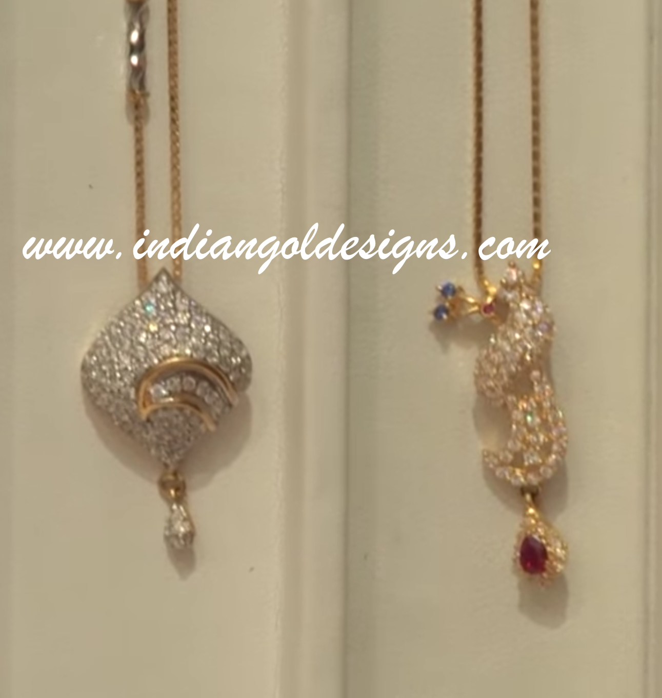 Gold and diamond jewellery designs simple gold pendant for Simple gold ornaments
