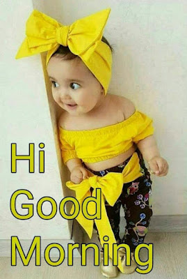 cute littel girl hi goodmorning image