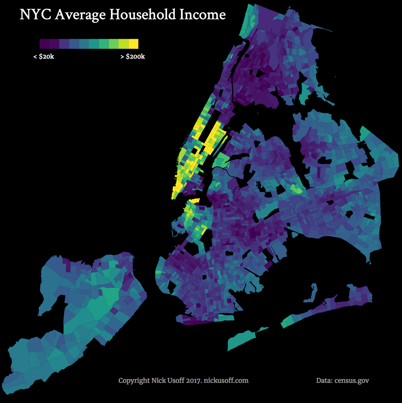 NYC average household income