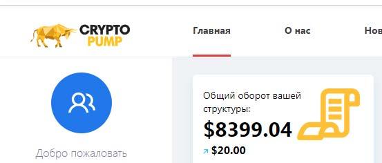 Инвестировано в CryptoPumps