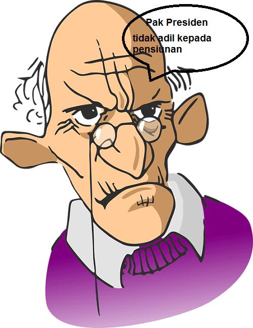 pensiunan pns tidak terima THR