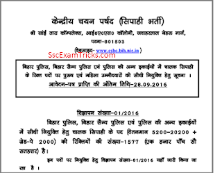 bihar police vacancy