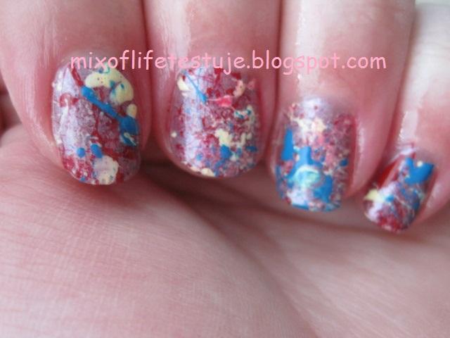 chlapane paznokcie, plamy, maziajki, maziajki na paznokciach