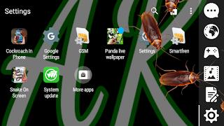Tutorial menampilkan hewan kecoa untuk hp android.