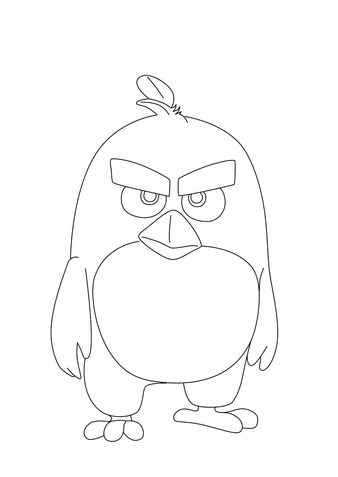 Coloring Page And Print Red Angry Bird Movie