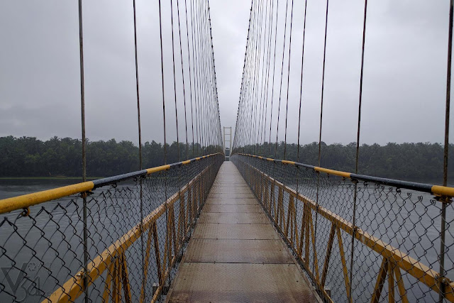 Sharavathi hanging bridge near Upponi