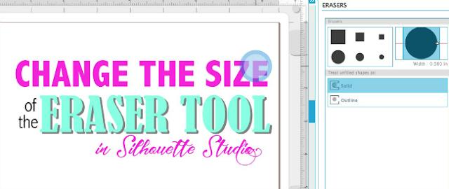 Silhouette Studio, Silhouette tutorial, eraser tool