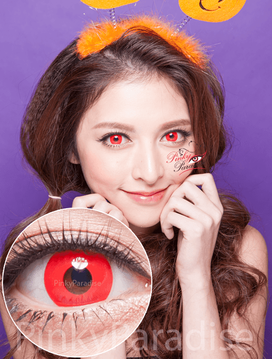 Princess Pinky Cosplay Bloody Red Circle Lenses (Colored Contacts)