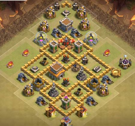 level 6 town hall war base 2018