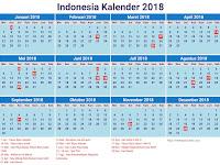 Kalender 2018 Beserta Hari Libur Nasional