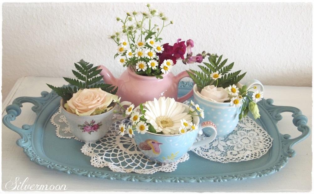 Silvermoon Blumen Im Teeservice