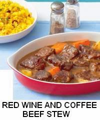 Red Wine and Coffee Beef Stew