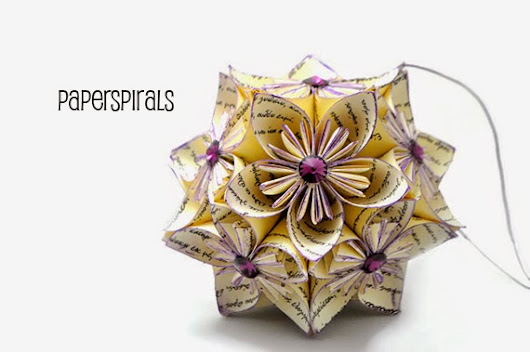 Paper Spirals: Who doesn't love a purple svarowski?