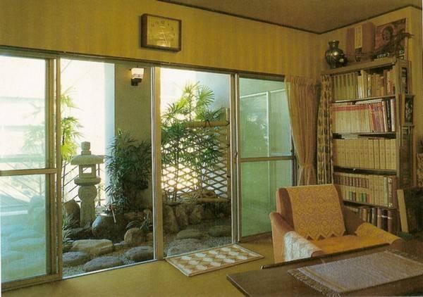 Jardim japonês construído em varanda
