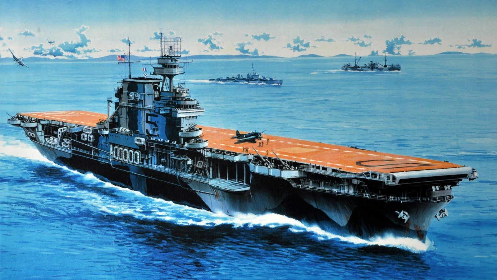 each aircraft carrier can accommodate almost 35 to 40 aircrafts which can cause a great set back to the enemies the best example is pearl harbor attack