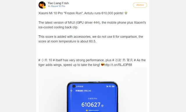 Xiaomi Mi 10 Pro, GPU'yu iyileştiren yeni güncellemeden sonra AnTuTu'da Rekor kırdı!