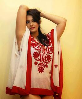 Falguni Rajani in a Spicy Short Transparent Shirt