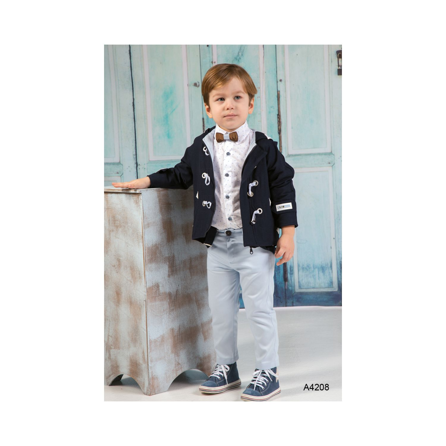 Christening suit with jacket for boys A4208