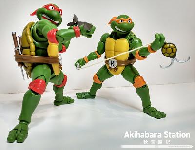 """Figuras: Review de los S.H.Figuarts TMNT """"Raphael"""" y """"Michelangelo"""" de #TamashiiNations"""