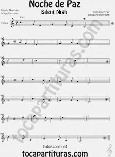 Christmas Song SILENT NIGH Sheet Music for Oboe Music Scores