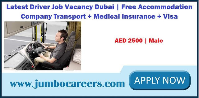 Latest Driver Job Dubai