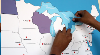 reusable wall stickers geography map for homeschoolers