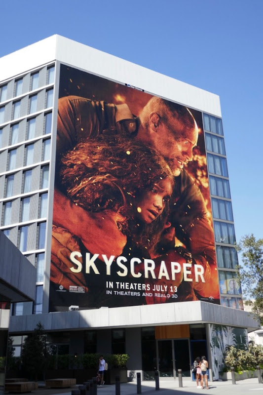 Giant Skyscraper film billboard
