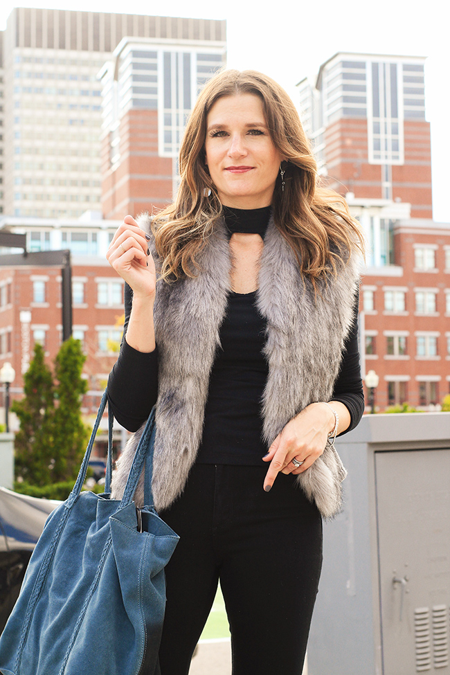 Fur Vest for Fall
