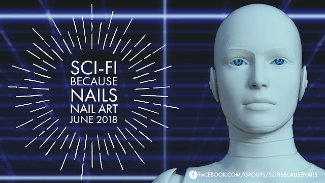 Sci-fi Because Nails | Nail Art June 2018: Blue