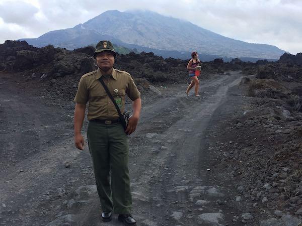 Lava Letusan Gunung Batur
