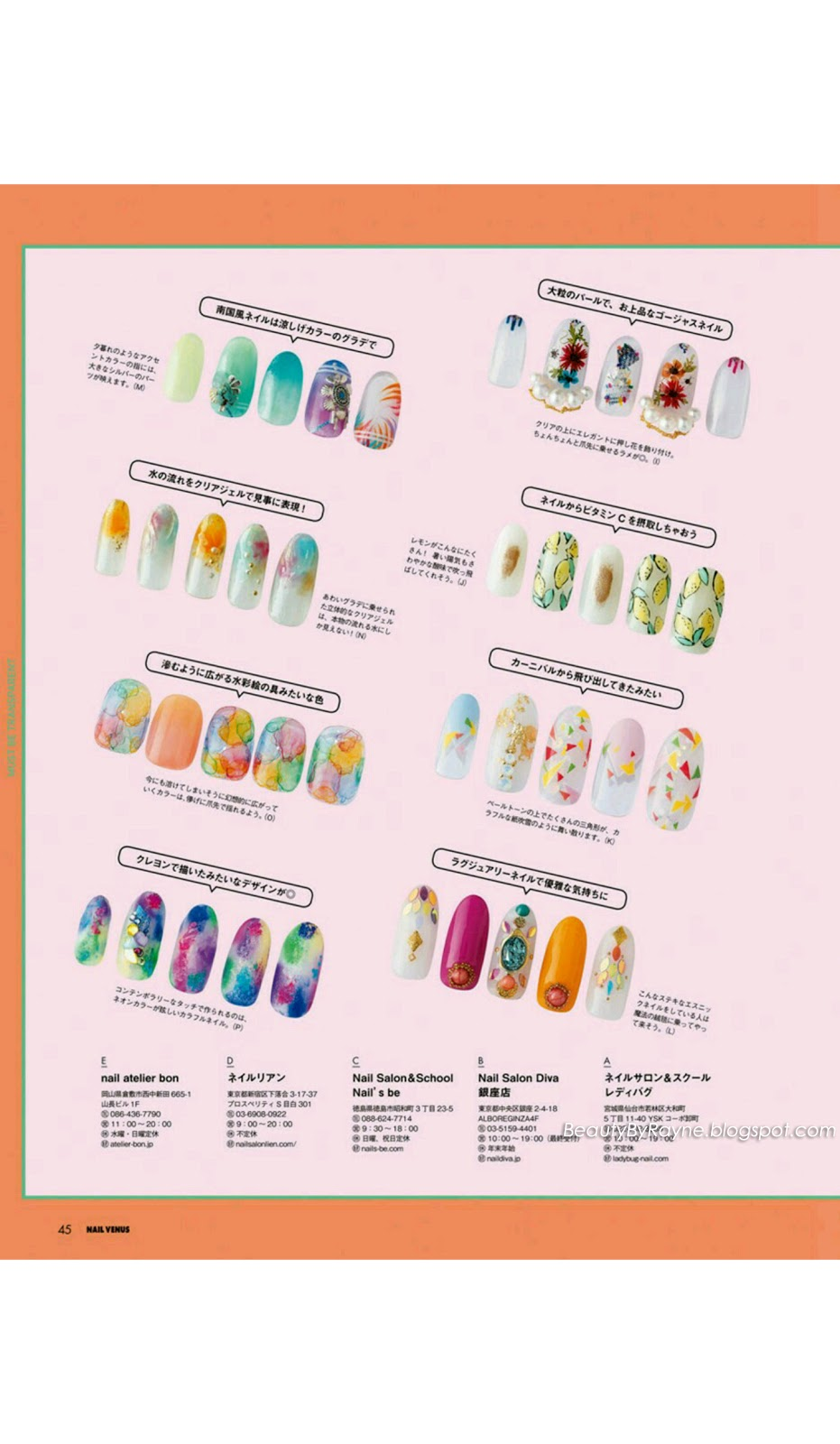Nail Venus Summer 2018 Issue [Japanese Magazine Scans] | Beauty by Rayne