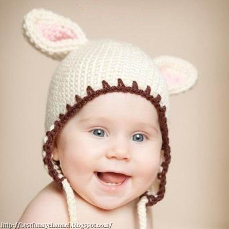 Girl in a hat with ears.