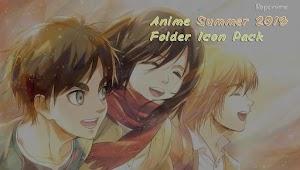 Anime Summer 2018 Folder Icon Pack