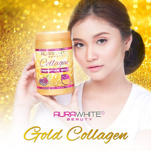 AURAWHITE GOLD COLLAGEN + SHAKER + SOAP + MASK 2 SET